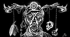"""Sha Man"" (Inking, 2019) #shaman #shamanism #ink #inking #sketch #sketching #sketchbook #psy #psychedelic #psychedelicart #psyart… Psy Art, Shamanism, Psychedelic Art, Sketching, Character Design, Darth Vader, Ink, Fictional Characters, Instagram"