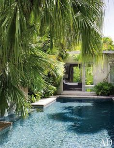The view across the pool to the master bedroom at writer Judy Blume's house in Key West, Florida.Pin it.See how top designers and architects are decorating their dining rooms From bright lemon to rich saffron, discover beautiful yellow rooms from the pages of AD See the special board of holiday inspiration fashion designer Jenni Kayne is curating just for AD Follow AD on Pinterest for more beautiful spaces and intriguing design