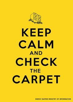Lego Inspired Poster  Keep Calm and Check the by DeeplyDapper