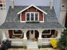 Craftsman bungalow dollhouse