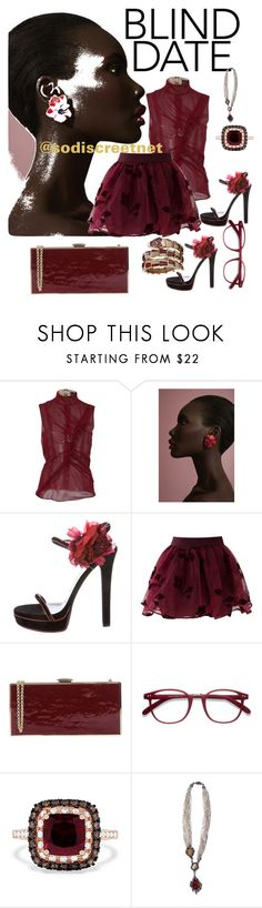"""""""No Strings Attached"""" by discreteme ❤ liked on Polyvore featuring J. Mendel, Gucci, Chicwish, Rodo, Effy Jewelry, Arunashi and Bulgari"""