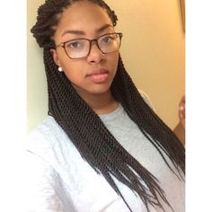 Pre-twisted Freetress Senegalese Twists (Small) Crochet Braids  Color: #4