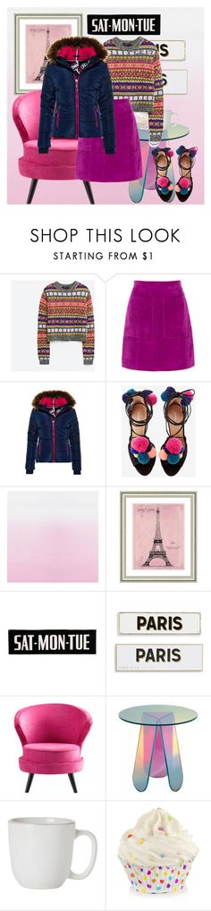 """""""COLORFUL"""" by evadefrancesco ❤ liked on Polyvore featuring L.K.Bennett, Superdry, Vintage Print Gallery, Rosanna, Cyan Design, Juliska and puffers"""