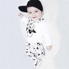 05cf28a7e 2017 autumn Winter baby boy girl clothes Long sleeve Cartoon Top+pants 2pcs  sport suit