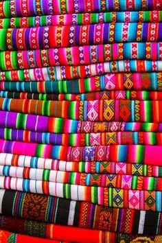 Peruvian textile - looooove the colors
