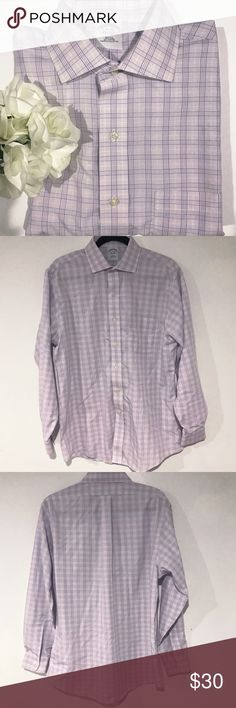 Brooks Brothers men's purple white button down 16 (16-34) preowned great condition light purple button down Brooks Brothers Shirts Dress Shirts