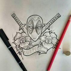 Sketching deadpool #deadpool #deadpoolmovie #deadpoolcomics #sketch #tattoo…