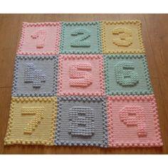 Numbers Baby Blanket Crochet pattern by Peach.Unicorn   Crochet Patterns   LoveCrochet