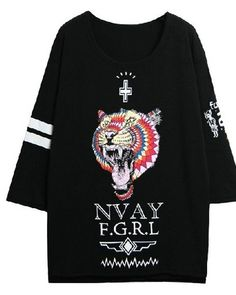 532cdd5ba3cc Colorful tiger design t shirt long sleeve for girls