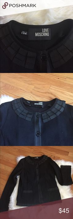 Love moschino woman's jacket Black Sz USA 6 like new condition Love Moschino Jackets & Coats Blazers