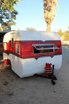 Retro Trailers, Vintage Travel Trailers, Vintage Campers, Canned Ham, Camper Ideas, Tents, Motorhome, Glamping, Compact