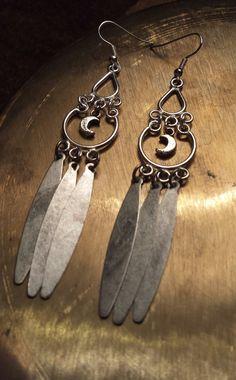 Moon Child Earrings by AlexandreArt on Etsy, $18.00