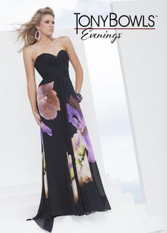 Beautiful floral gown for the Mother of the Bride or Mother of the Groom.  This would be great for a Spring or Summer wedding! Tony Bowls Evenings - TBE11552 #motherofthebridedress #motherofthegroomdress #dressformotherofthebride #dressformotherofthegroom #tcarolyn