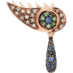 Ileana Makri Champagne Diamond, Sapphire & Tsavorite Crying Eye Earring at Barneys New York Sapphire And Diamond Earrings, Diamond Stud, Teardrop Earrings, Stud Earrings, Champagne Diamond, Ileana Makri, Designer Earrings, Bracelet Watch, Crying