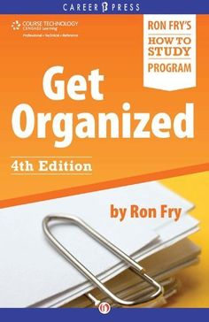 46 best study learning skills images on pinterest learning get organized fourth edition english edition ron fry ebook access fandeluxe Image collections