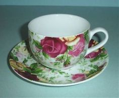 Royal AlbertCountry Rose ChintzTea Cup & Saucer Set