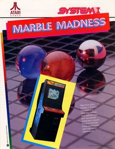 Marble Madness, found on Midway Arcade Origins on PS3 and X360