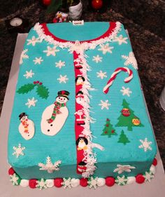 Ugly Holiday Sweater cake. :)