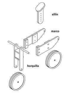 Hágalo Usted Mismo - ¿Cómo construir una bicicleta infantil de madera? Diy Wood Projects, Wood Crafts, Woodworking Plans, Woodworking Projects, Wood Bike, Push Bikes, Balance Bike, Paper Crafts Origami, Wood Toys