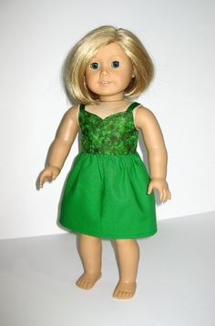 St. Patricks Day Dress for 18 inch Doll by TrendyLilStitchery