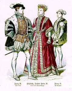 Plate #43a - Sixteenth Century - France. Francis II (1543-1560), Elizabeth (Daughterof Henry II) as a Bride (1545-1568), Francis II as Dauphin - Oldest Son of King