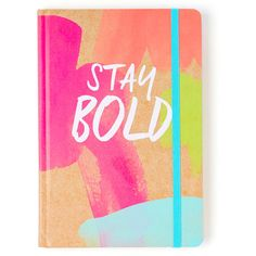 Tri-Coastal Design Stay Bold Bound Journal ($5.99) ❤ liked on Polyvore featuring home, home decor and stationery