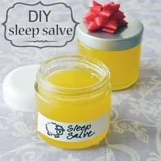 PINNER SAID - This homemade sleep salve will help relax you and put you to sleep! Coconut oil + olive oil + beeswax + 5 essential oils: