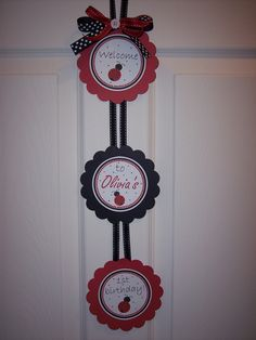 Red Ladybug Birthday Door Sign - Ladybug Door Sign - Ladybug Birthday Sign - Lady Bug Birthday - Ladybug Party - Lady bug Party