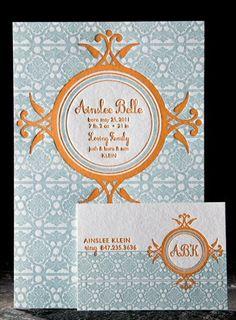 Love letterpress invitations