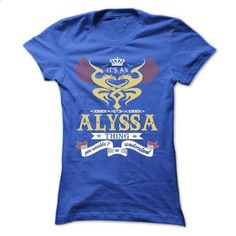 its an ALYSSA Thing You Wouldnt Understand  - T Shirt,  - #sweatshirt men #victoria secret sweatshirt. CHECK PRICE => https://www.sunfrog.com/Names/its-an-ALYSSA-Thing-You-Wouldnt-Understand--T-Shirt-Hoodie-Hoodies-YearName-Birthday-44954511-Ladies.html?68278