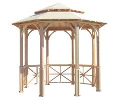 SamsGazebos 10' Octagon English Cottage Garden Gazebo with Two-Tiered Roof, Adjustable for an Uneven Patio, Made in USA by SamsGazebos. $3799.00. No more tilting gazebos or unsightly shims!   Adjustable posts can accommodate uneven cement pads for a perfect fit and professional installation regardless of leveling!. 1 x 6 tongue and groove roof with large overhang provides ample shade, can be used as is, or customizable with roofing material of your choice.. Manufa...