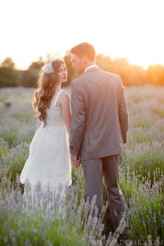 Lovely wedding couple in a field of Lavender #wedding #portrait #ideas