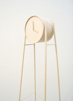 Tick Tock Wooden Clock by Charlotte Ackemar #grandfather #wood #clock