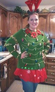 Ugly Christmas sweater #uglysweater #sweater http://costumecrafty.blogspot.com/2016/07/how-to-make-ugly-christmas-sweater-even.html