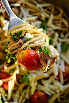 Agnese Italian Recipes: Italian Pasta with pesto cherry tomatoes and pine nuts recipe