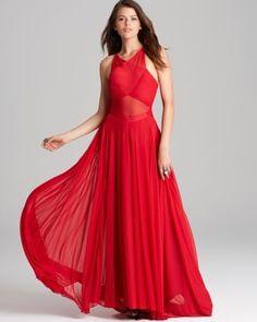 ABS by Allen Schwartz Sleeveless Crisscross Front Gown