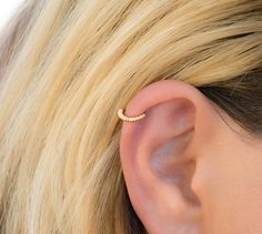 CHRISTMAS SALE Wrapped Gold Helix Earring Tribal Piercing