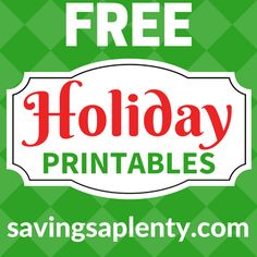 FREE Printable Gift Tags, Holiday Cards and MORE!
