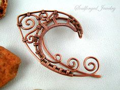 "Elven ""high elf I"" copper wire wrapped ear cuffs (pair) by SoulforgedJewelry on Etsy"