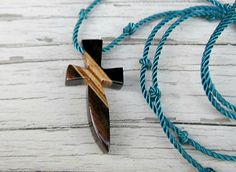 Handmade Wooden Cross Necklace  Striped Ebony & Zebrawood by TheLotusShop, $16.95