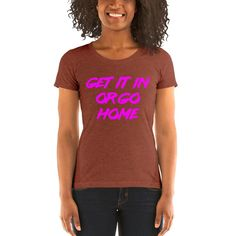 CONCEPT TEES AN HATS,GET IT IN OR GO HOME(PINK PRINT) - Clay Triblend / M