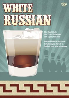 "White Russian  www.LiquorList.com  ""The Marketplace for Adults with Taste"" @LiquorListcom   #LiquorList"