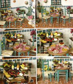 Mediterranean Diorama Miniature Taverna 1:12 by DinkyWorld on Etsy