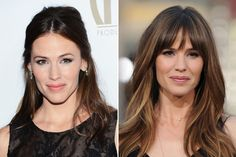 Celebs with and without bangs: Jennifer Garner