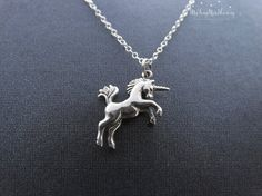 Silver Unicorn Necklace Unicorn Jewelry by MyTinyStarShining