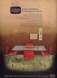 Mid-century chrome dinning set perfection.