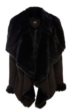 Oasis Faux Shearling Drape Jacket, pair this with some crimson leggings and a thin brown leather belt around the waist #autumncovered