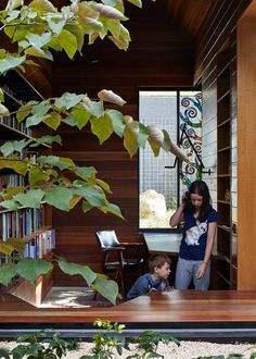 This Home's Study Library Is An Oasis Of Learning