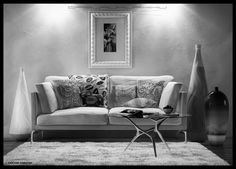 Miss Sarajevo, Sofa, Couch, 3d Visualization, Real Estate Agency, Cinema 4d, Zbrush, Vases, 3 D