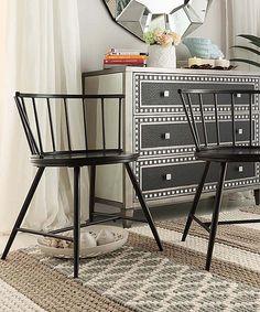 Look at this #zulilyfind! Black Warren Low-Back Windsor Chair - Set of Two by HomeBelle #zulilyfinds